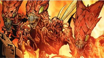 Mejores villanos de Capitana Marvel The Brood