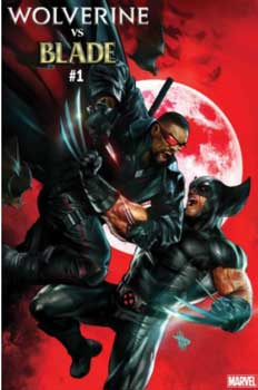 portada de wolverine vs blade