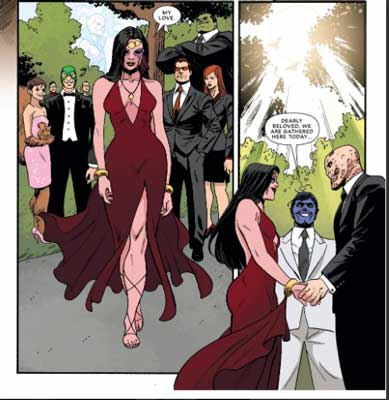 Boda entre Deadpool y Shiklah