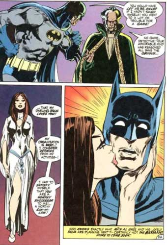 talia y batman. primera aparición de Ra's al Ghul