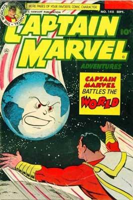 captain marvel battles the world