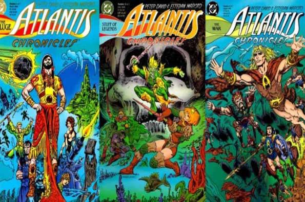 portadas de aquaman: las crónicas de Atlantis