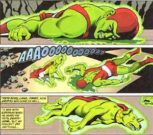 krypto y kryptonite man muriendo