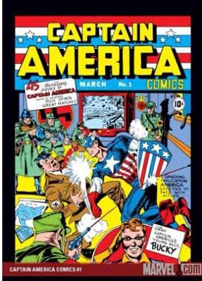 historia del cómic: capitán américa golpea a hitler