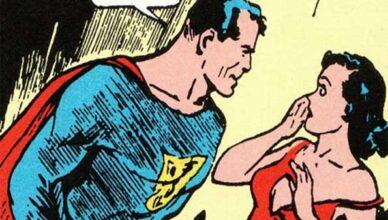 superman mira a lois