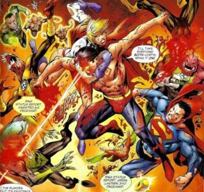 Superboy Prime vs linteras verdes