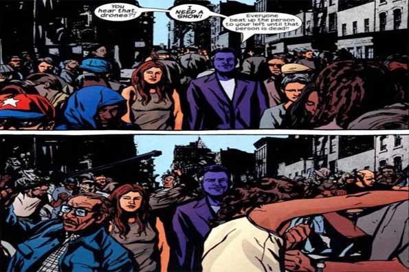 purple man y jessica jones en el cómic alias