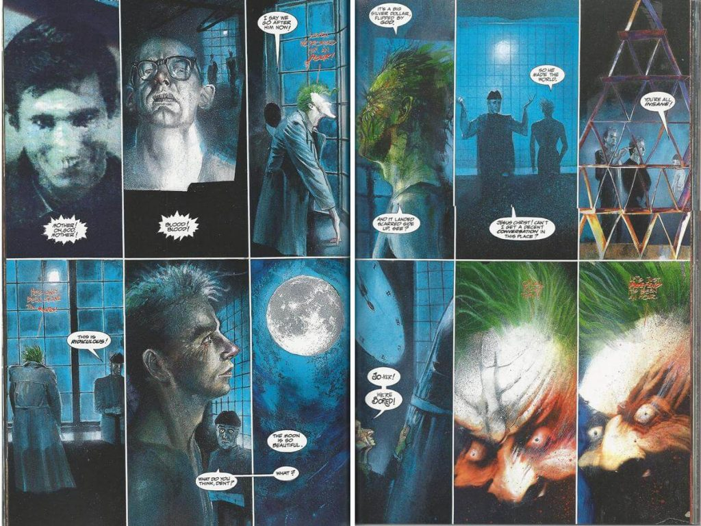página del comic asilo arkham