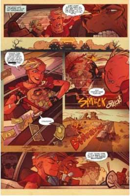 página del cómic de tank girl