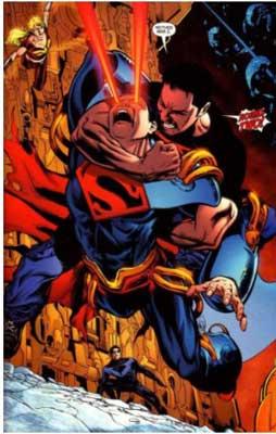 Superboy Prime vs conner kent