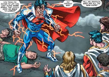 superboy prime vs familia shazam