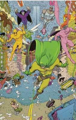 superhéroes en el cómic flex mentallo de grant morrison