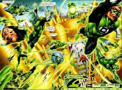 miembros del green lantern corps en el cómic Green Lantern Origen Secreto