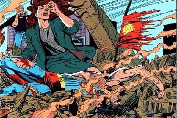 la muerte de superman historieta