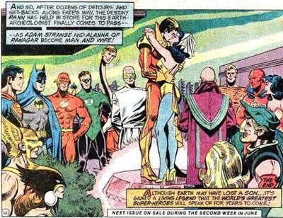boda de Adam Strange y alanna