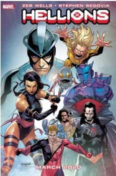 portada del primer numero de Hellions, nuevo comic de marvel