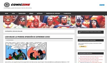 Comiczine es una de las mejores páginas para Leer cómics online gratis