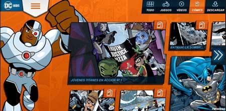 dc kids es de las mejores páginas para Leer cómics online