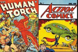 portada de edad de oro de los cómics