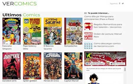 vercomics es una página para Leer cómics online
