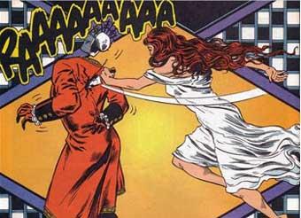 Rhea Jones apuñalando a Jack el rojo
