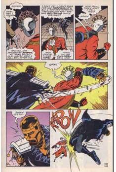 Robotman peleando