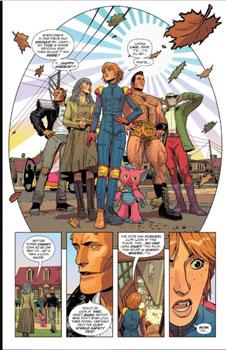 la doom patrol compuesta por robotman, crazy jane, flex mentallo, negative man y casey