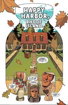 viñeta del cómic milk wars describe una casa con milkman llegando a visitarla