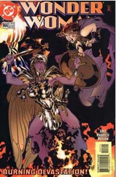 Wonder Woman con su armadura dorada en wonder woman 144