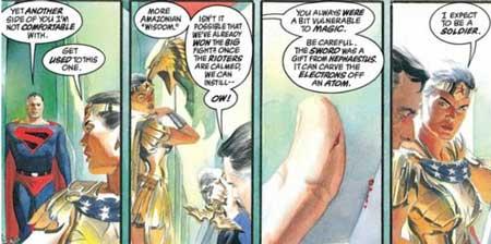 diana y superman conversando en kingdom come