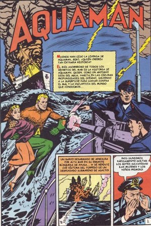 Aquaman en More Fun comics #73 en la Edad de oro de los cómics