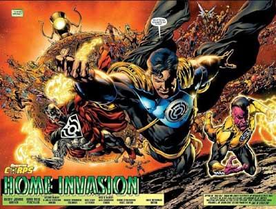 superboy prime, cyborg superman y los manhunters